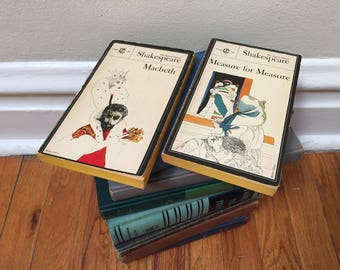 Shakespeare Set of 2 Books Paperback Measure for Measure and Macbeth Vintage Book