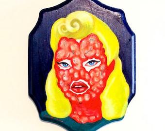 "ORIGINAL ART- ""Darla"" Oil Painting on Wood Plaque 9"" x 12"""