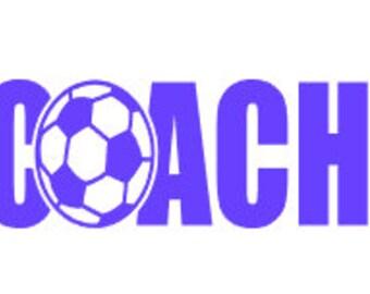 Coach Decal / Soccar Coach Decal / Soccar decal / Yeti Decals / Coach / Decals / Car Decal  / Cup Decal