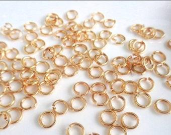 100 bronze jump rings 5x0.7mm, brass, 21 gauge