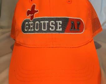 """Grouse Commander """"GrouseAF"""" Embroidered Hat, Blaze Orange"""