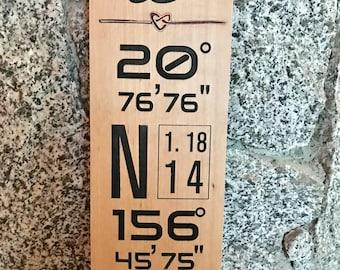 Logitude Latitude Wedding Date Address Sign. For wedding, anniversary, gifting