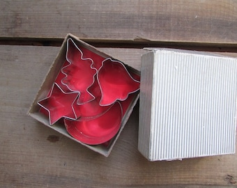 Small Vintage Cookie Cutters Original Box Set of 4