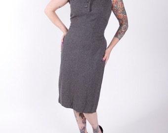 SOLD! *** Stunning Vintage 1950s Wool Wiggle Dress