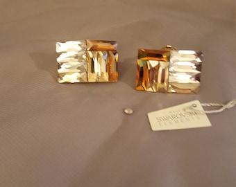 Swarovski Glamour earrings - Honey Gold clips