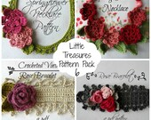 Crochet PDF Pattern Discount Pack - crocheted necklace, crochet flowers, flower necklace, crochet pattern, photo tutorial