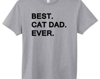 Best Cat Dad Ever Shirt Funny Gift For Fathers Day
