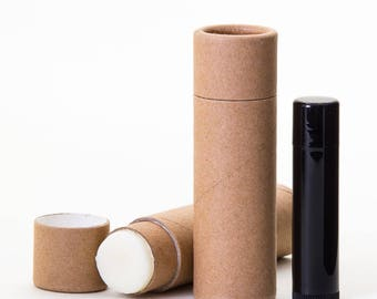 Eco Friendly - 3/4 Ounce -  Lotion / Balm / Salve  -   Kraft Cardboard 100% Biodegradable Cosmetic Push Up Tubes  -  6 PACK