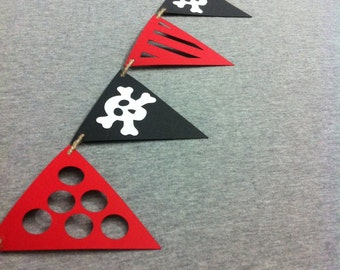 Pirate Banner - birthday party - party supplies - garland - bunting