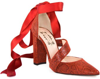 High heels, shoe for women, shoe with bow, snake shoes, women's shoes