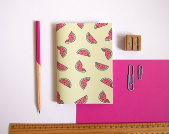 A6 Notebook / Watermelon Notebook / Fruity Stationery / Pocket Notebook / Cute Stationery / Small Notebook / Gifts for Her