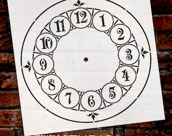Manchester Clock Stencil - Select Size - STCL405 - by StudioR12