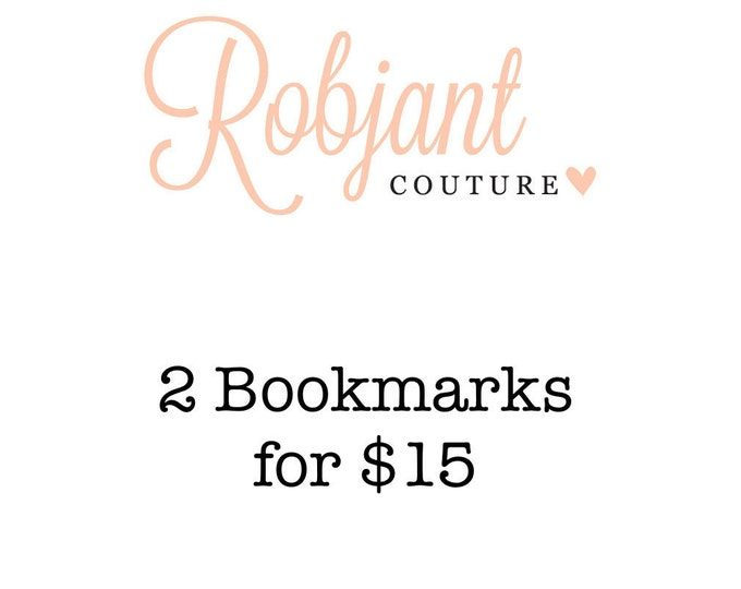 DEAL! 2 Beaded bookmarks /bookthongs.
