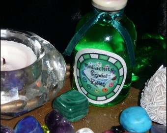 MALACHITE Crystal POTION Handmade NATURAL Rain Water