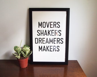 """Movers Shakers Print - 12""""x18"""" - Limited Edition Screenprint"""