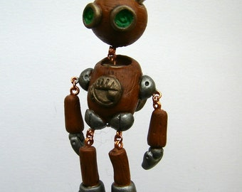 BOB the Steampunk Sad Robot Ornament