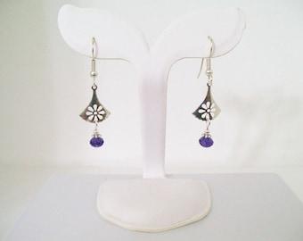 Swarovski Purple Velvet Crystal Dangle Earrings
