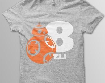 Star Wars Birthday Shirt Disney shirt kids BB8 shirt kids Disney t-shirt