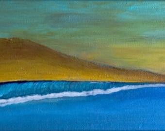 Painting acrylic original TURMERIC and spices 70 x 20 cm