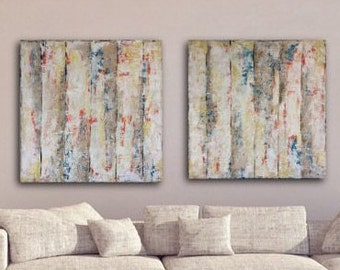 Large Abstract Painting, Diptych, Large Textured Painting, Original, Wall Art, large, mixed media, Extra large Abstract Painting