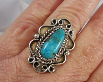Native AmericanTurquoise Sterling Silver Ring