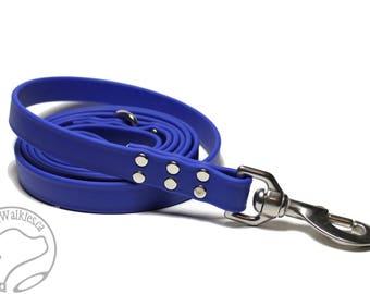 "Royal Blue Biothane Large Dog Leash - 3/4"" (19mm) Wide - Extra Heavy Duty - Waterproof Biothane Dog Leash - Choice of Hardware and Length"