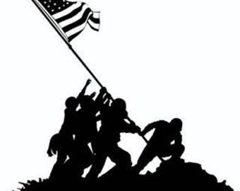 Iwo Jima Raising the Flag Decal