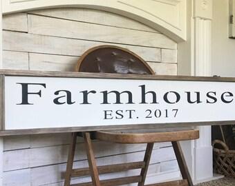 Farmhouse EST. Sign