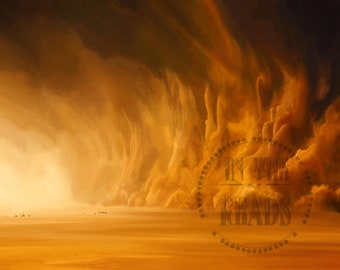 The Sand Storm / Digital Painting / Mad Max / Free US Shipping