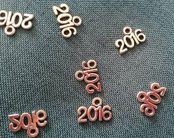 Set of 2 year 2016 Tibetan silver charms