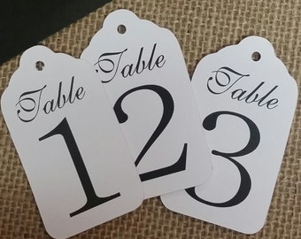 """Medium Table Number Tags Seat Placement Cards 1 3/8"""" x 2 1/2"""""""