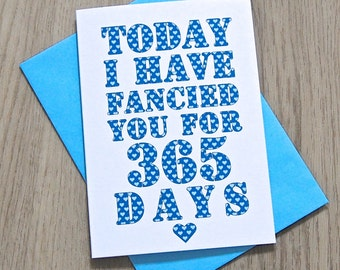 Days I've Fancied You Card – Personalised Anniversary Card – Card for Husband wife – birthday card for husband wife – Valentine's Day Card