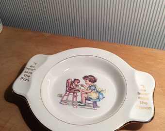 Vintage Child's or Baby's Holmes and Edwards Plate by Homer Laughlin