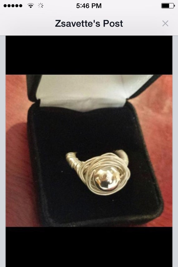 Sterling  Silver 10mm Ring