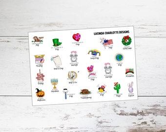 Holidays   Planner Stickers