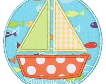 293 Sailboat Patch Machine Embroidery Applique Design