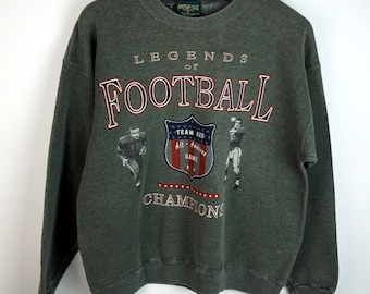 Vintage Legends of Football Sweatshirt Men's Large L American Eagle 90s Fashion Made in the USA