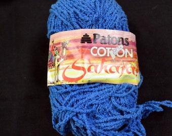 Yarn Patons Sahara Textured Cotton Royal Blue