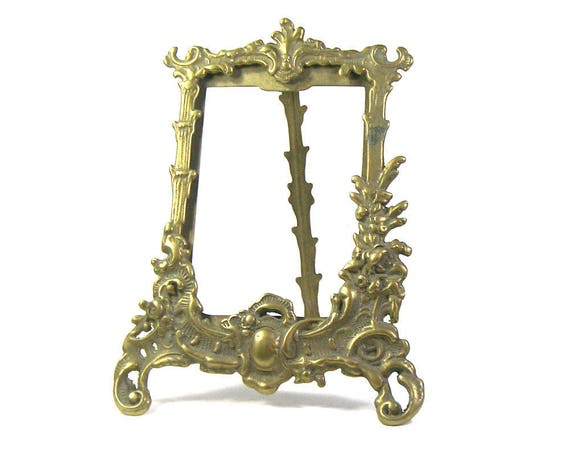 Vintage Brass Rococo Frame, Brass Picture Frame, Rococo Style Frame, Brass Frame, Brass Photo Frame, Brass Hollywood Regency, House Gift