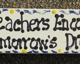 Teacher Gift Wooden Block Teacher Encourage