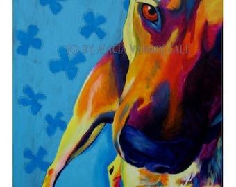 Shepherd, Pet Portrait, DawgArt, Dog Art, Pet Portrait Artist, Colorful Pet Portrait, Shepherd Art, Pet Portrait Painting, Art Prints
