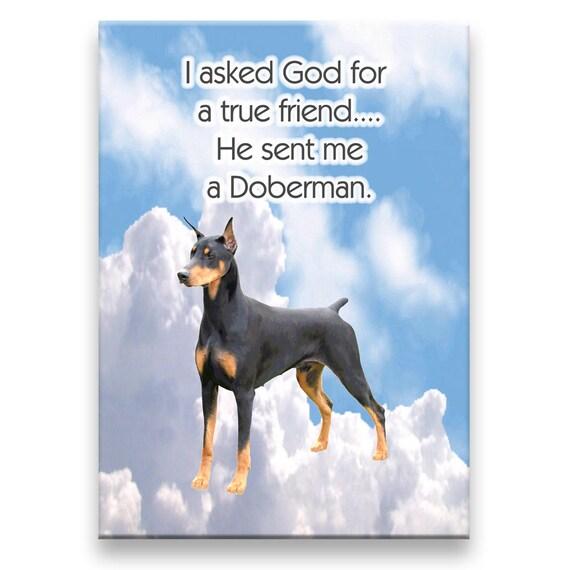 Doberman Pinscher True Friend Fridge Magnet No 1
