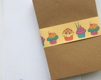 Cup Cake Stationery Letter Set