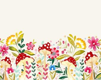 Floral Toadstool Print - A4, A3 & A2