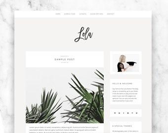 wordpress theme LOLA - responsive premade blog template - modern & minimalist design