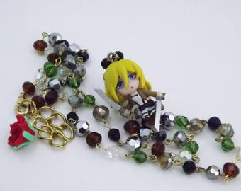 AOT anime Krista/Historia Crystal Kawaii Necklace Anime gaming cosplay jewelry