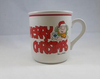 Merry Christmas 1980 Ziggy Mug by Tom Wilson Stoneware