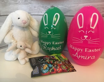 Personalised plastic Easter egg
