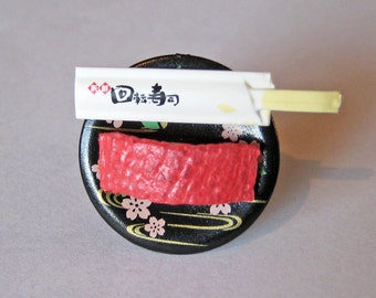Maguro Tuna Sushi Ring - Statement Ring - Food Jewelry - Food Ring - Sushi Jewelry