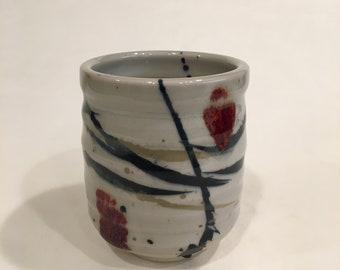 One Handmade Tea cup, Ceramic Cup, Yunomi, TCMCH18WRB14